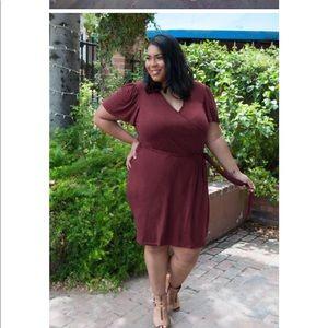 429726f6121 Udderly Hot Mama Dresses - Whitney Nursing Wrap Dress in Bordeaux
